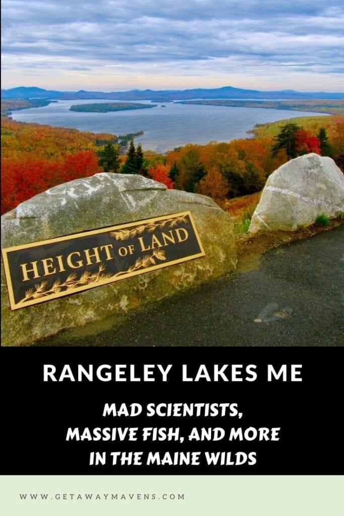Rangeley Lakes ME Pin