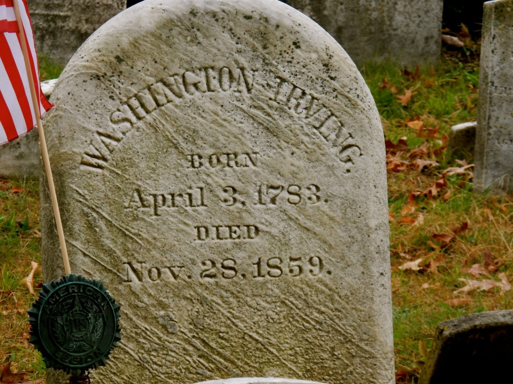 Washington Irving Gravestone at Sleepy Hollow Cemetery