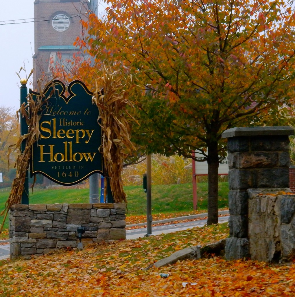 Welcome to Sleepy Hollow NY wooden sign