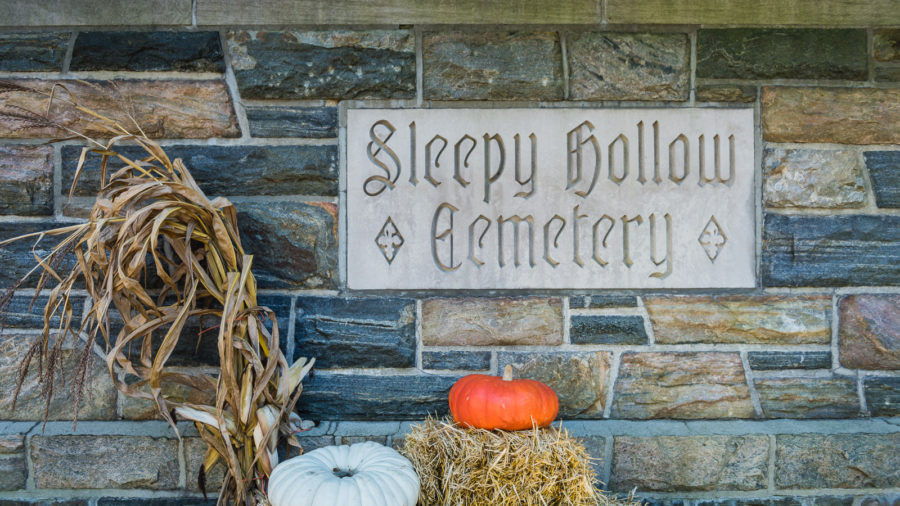 Sleepy Hollow Cemetery Sign