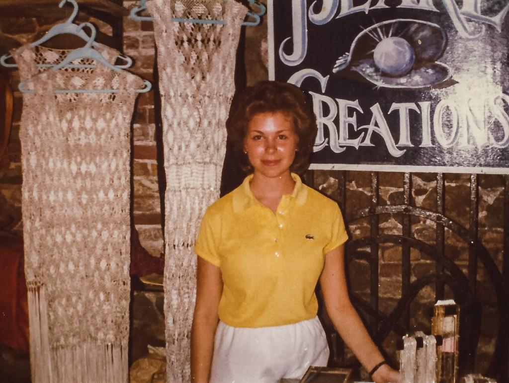 Teenage Sandra Foyt hawking silver chains and pick-your-own pearls in the family story.