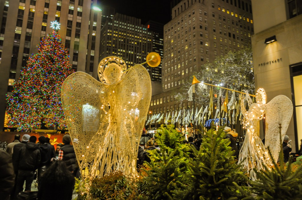 Rockefeller Angels are part of the magic that make New York City holidays magical.