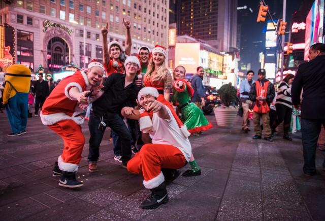 SantaCon in Times Square