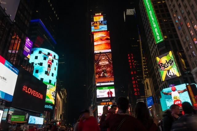 Times Square countdown