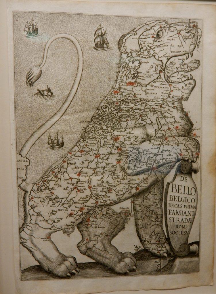 1600's map of Netherlands under Spanish Rule, Argosy Book Shop
