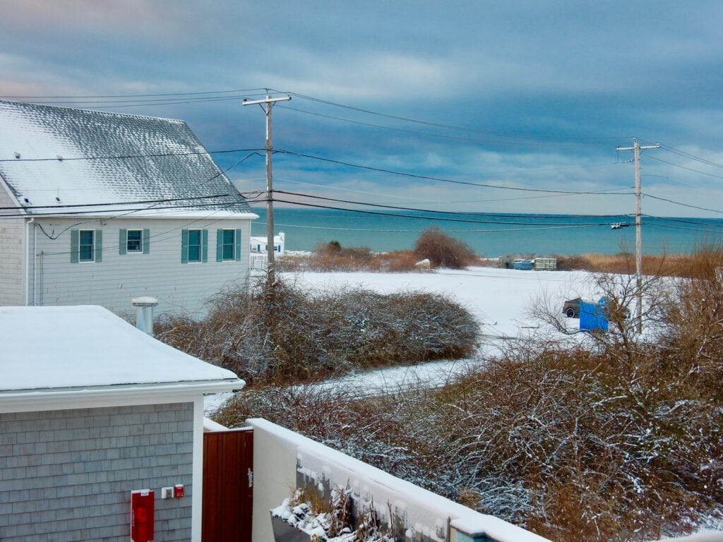 Narragansett RI After Snow