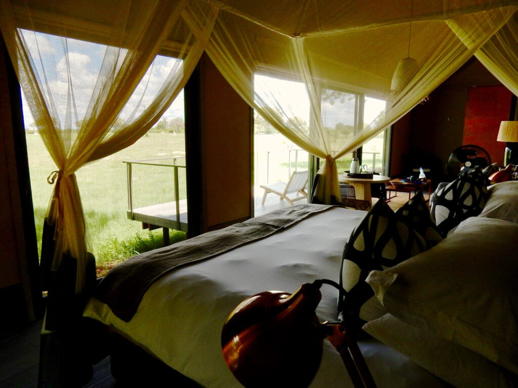 Linkwasha Camp View from bed