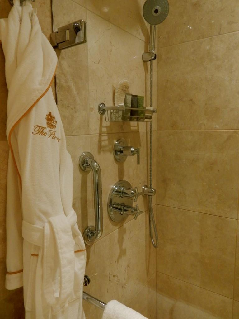 Pierre Hotel Bathroom and Robe