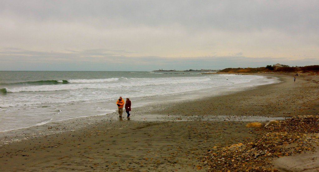 Scarborough State Beach in Winter, Narragansett RI