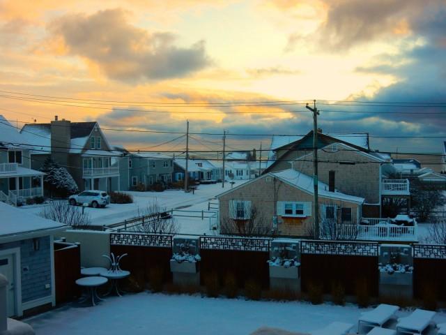 The Break Hotel neighborhood in winter, Narragansett RI