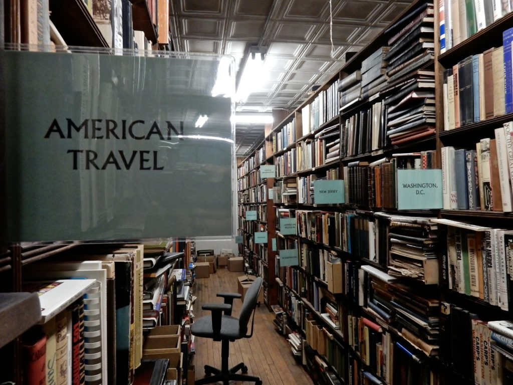 Travel Book Section, Argosy Bookstore NY