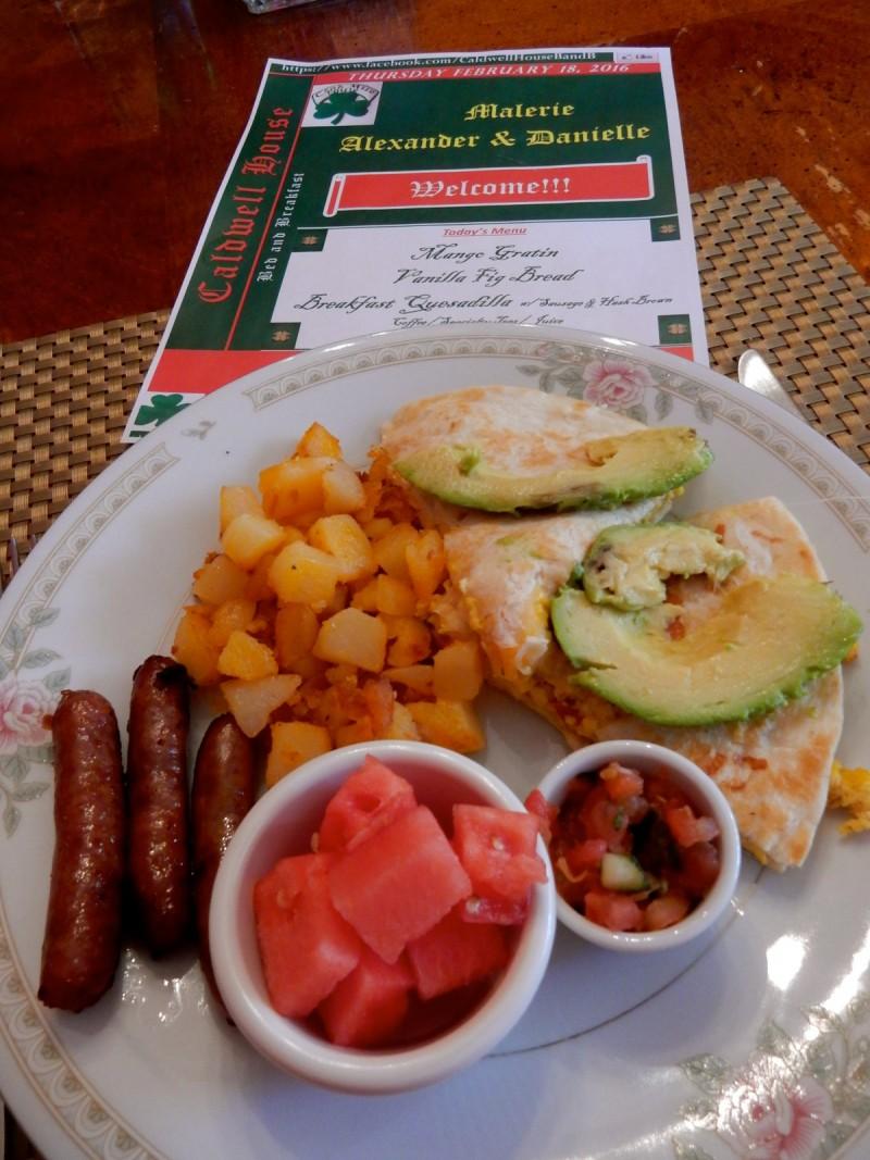 Breakfast at Caldwell House BnB, Salisbury Mills NY