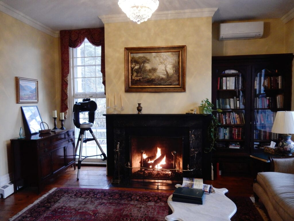 Caldwell House BnB Fireplace Parlor NY