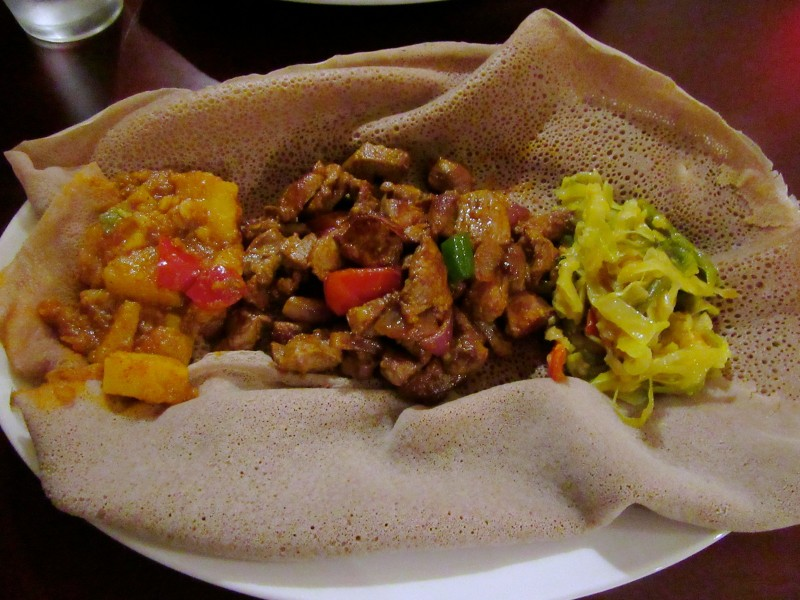 Etheopian Meal at Teff Restaurant, Stamford CT