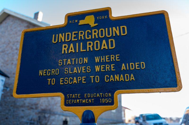 Underground Railroad Sign