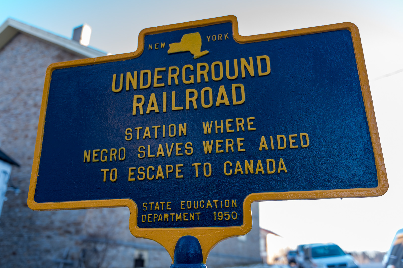 Underground Railroad Sign