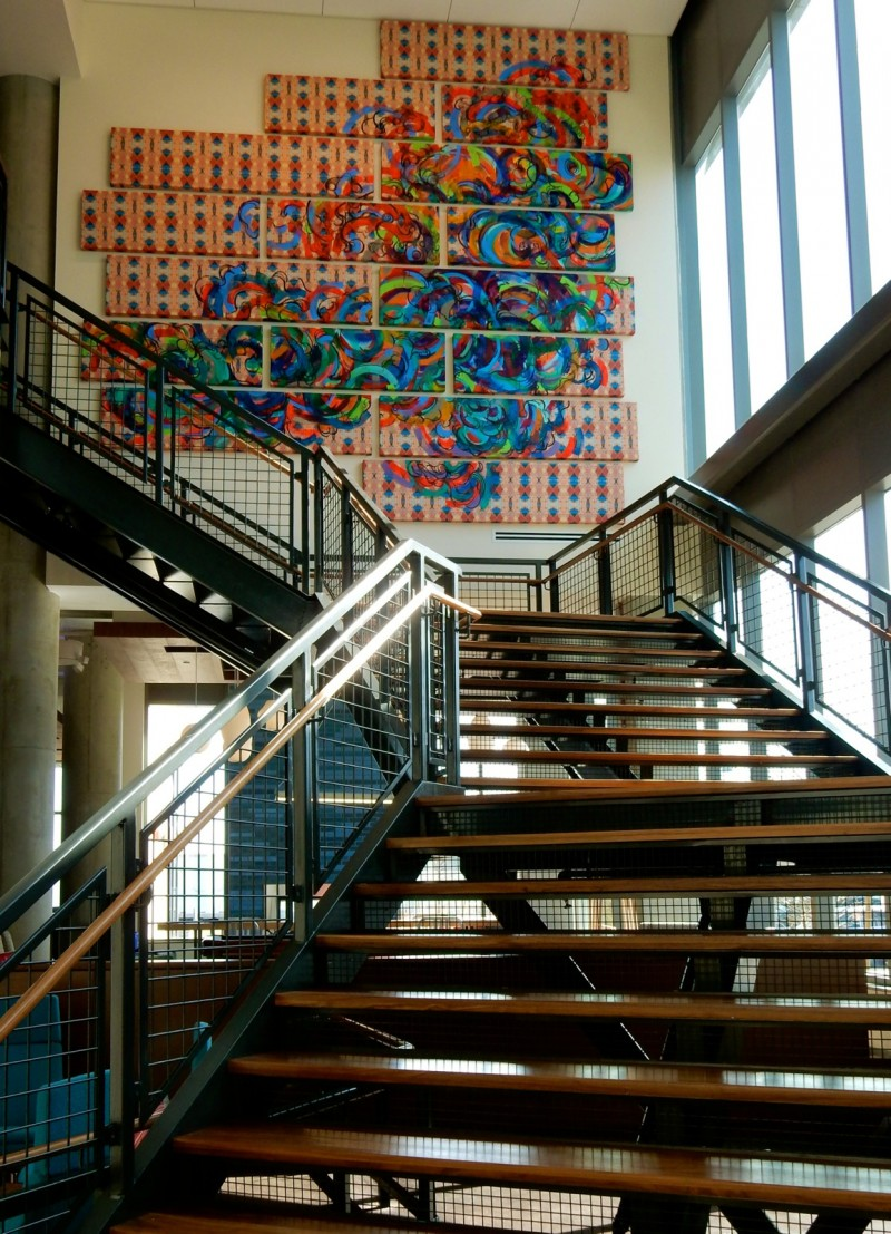 Aloft Boston Seaport Stairway