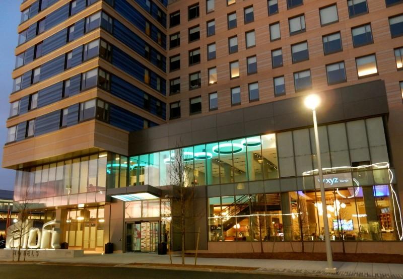 Aloft Hotel Exterior, Boston MA