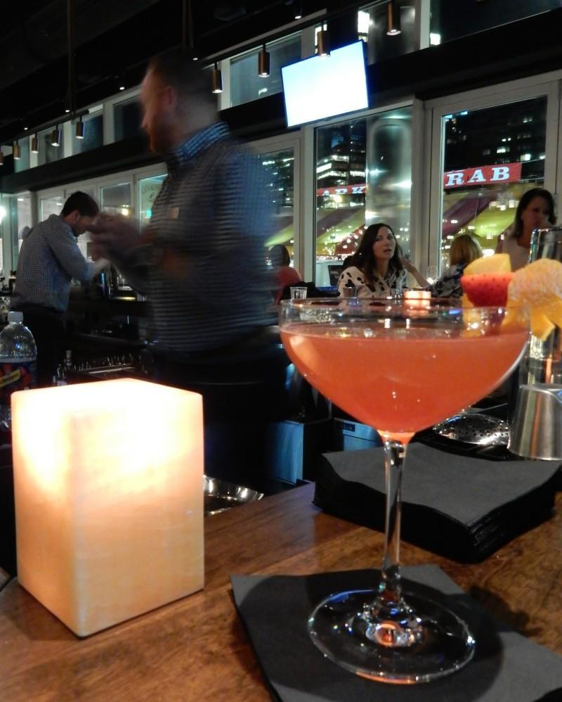 Custom Cocktail at Outlook Bar, Envoy Hotel, Boston MA