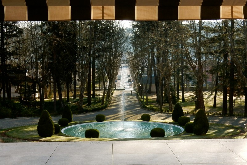 From front door of Vidago Palace Hotel, Portugal