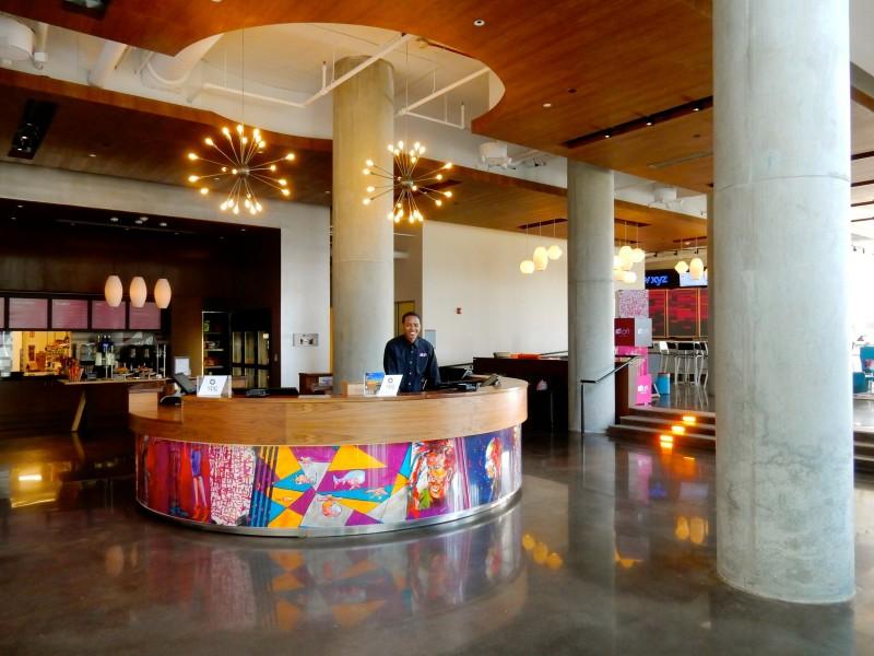Lobby, Aloft Hotel, Boston MA