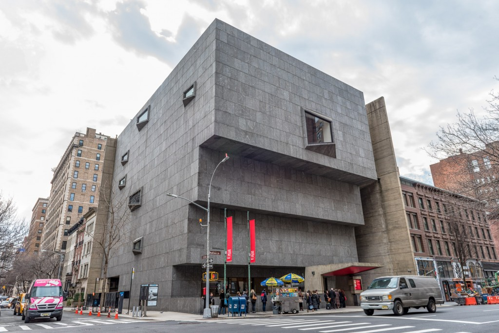 The Met Breuer museum building exterior on the corner of 75th and Madison Avenue in New York City. @GetawayMavens.com