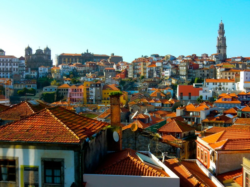 Porto Portugal rooftops