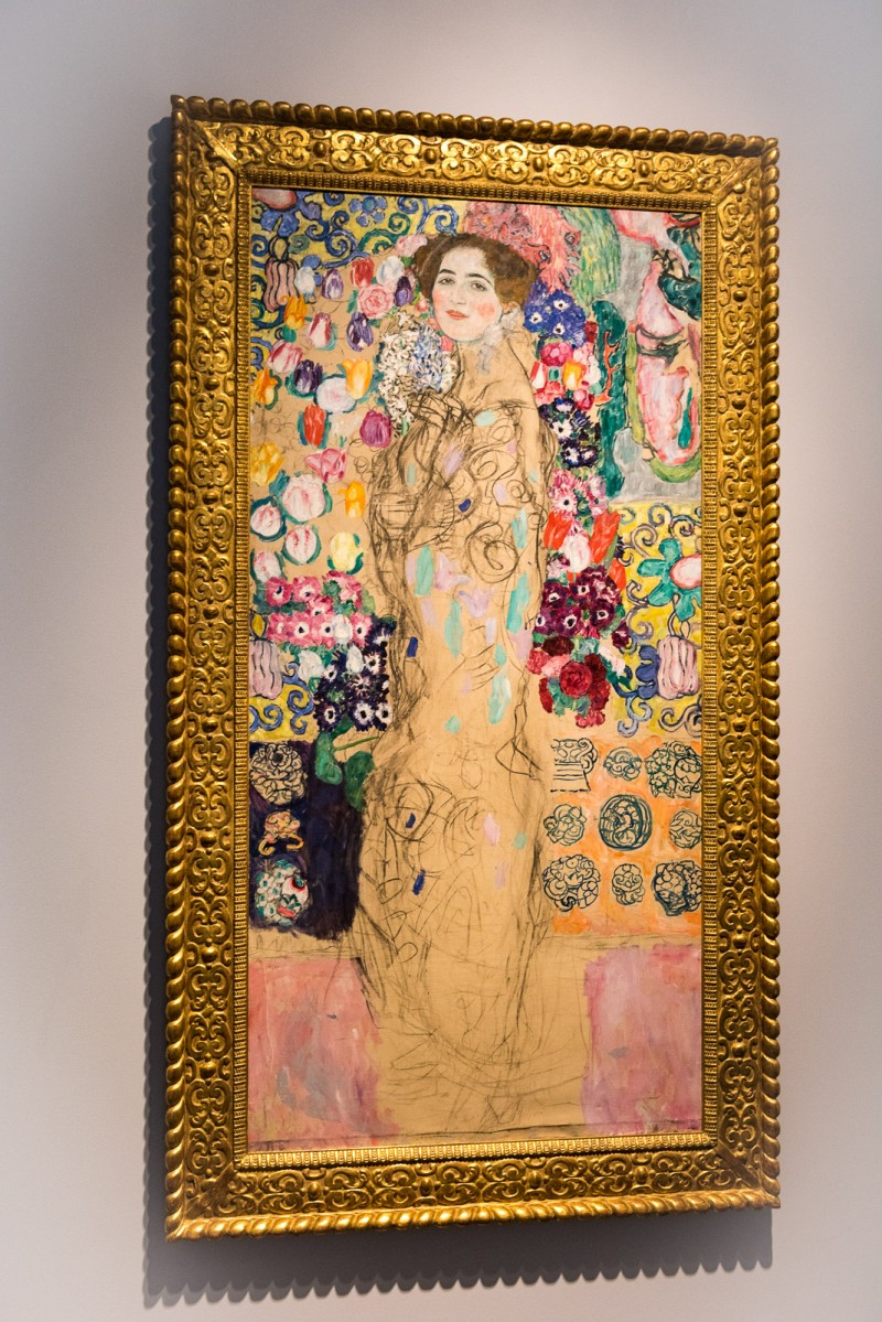 Posthumous Portrait of Ria Monk III by Gustav Klimt, ca 1917-18 on display at the Met Breuer. @GetawayMavens