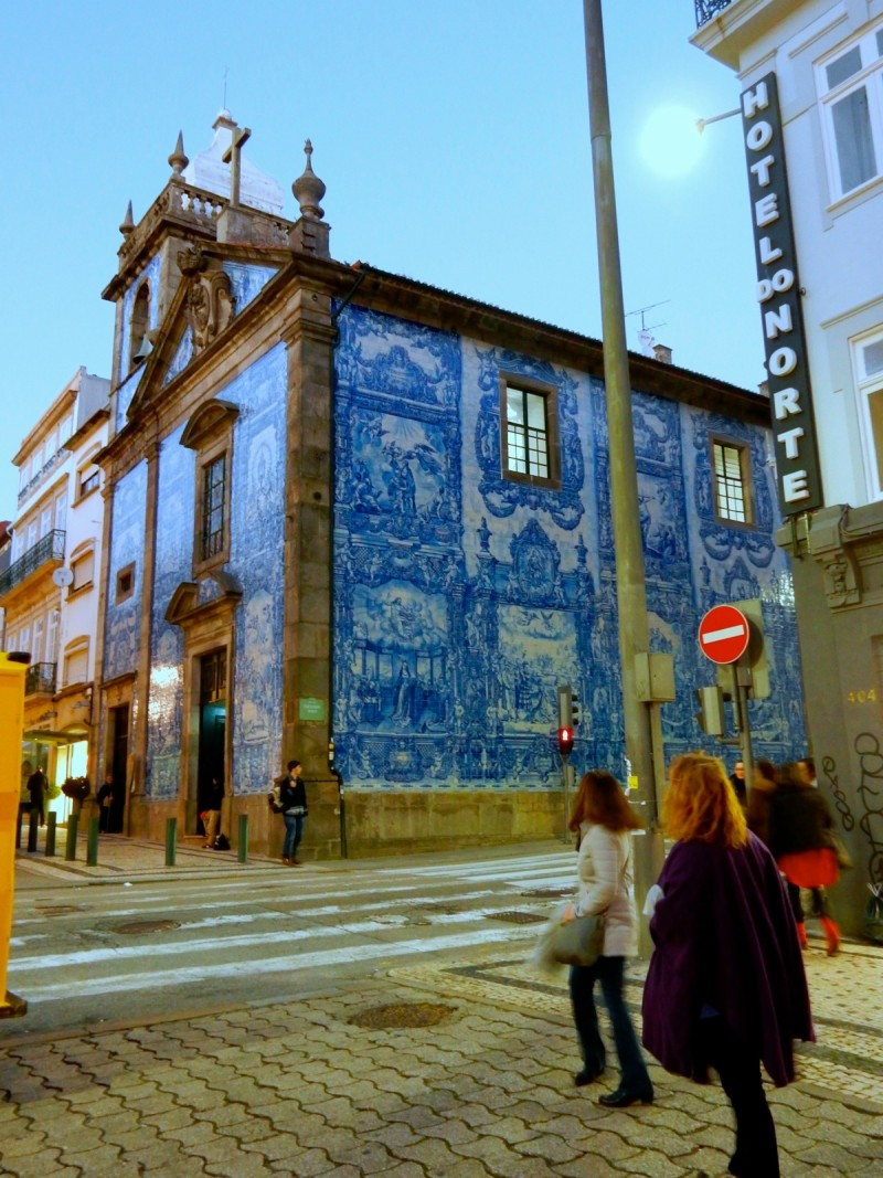 Typical tile building facade, Porto Portugal