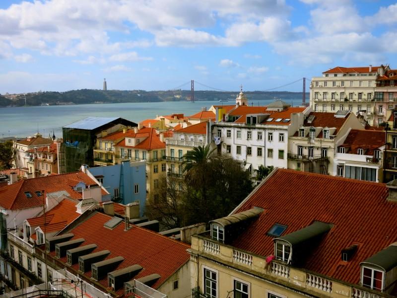 View from Lisbon Bairro Alto Hotel, Lisbon Portugal