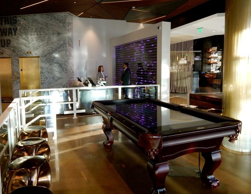 Virtual Pool Table, Envoy Hotel, Boston MA