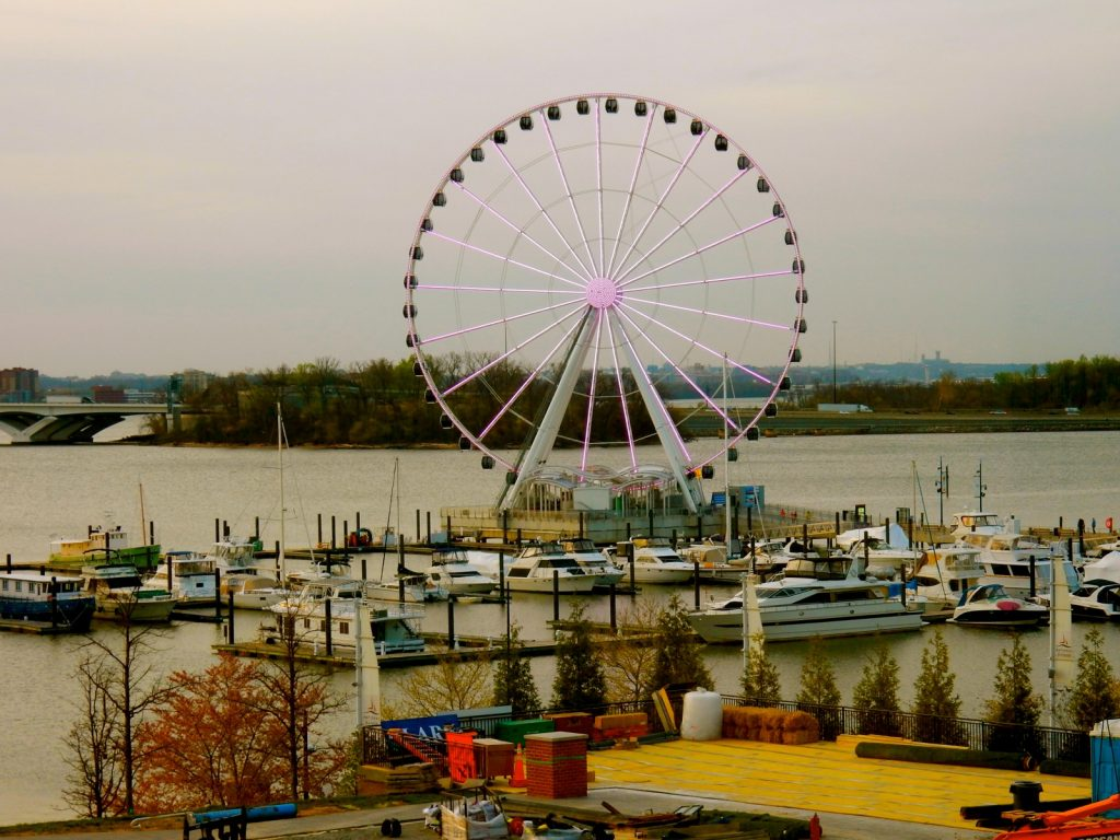 Capital Wheel at night, National Harbor MD