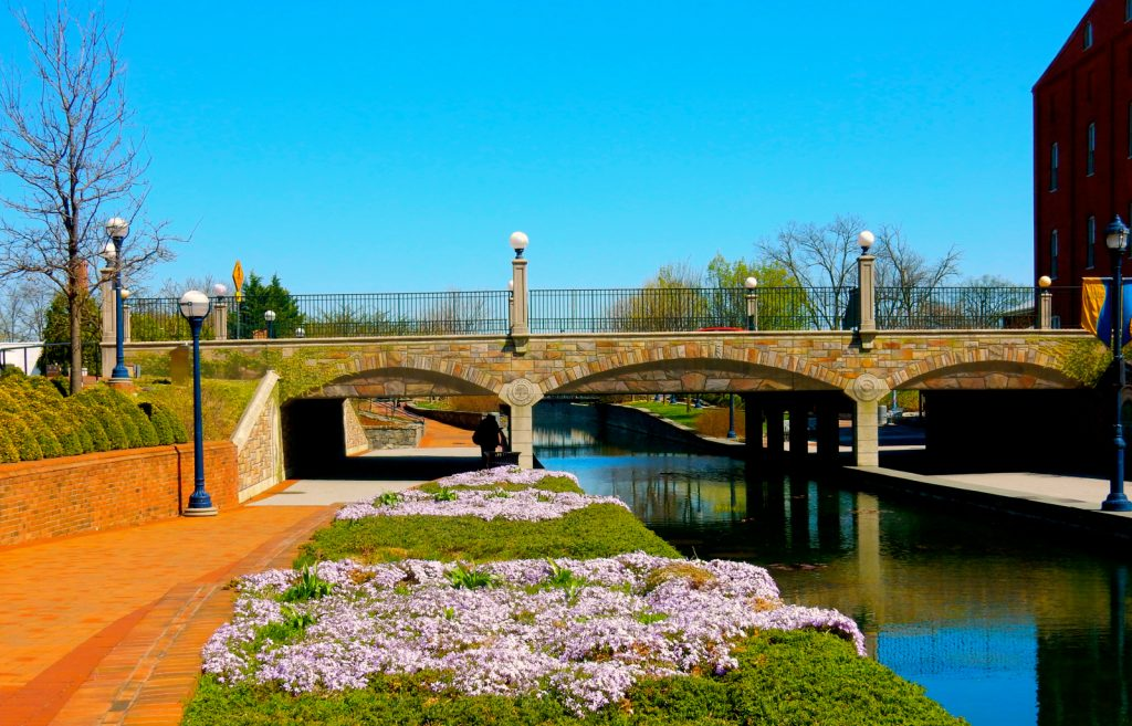 Community Bridge at Carroll Creek Park, Frederick MD