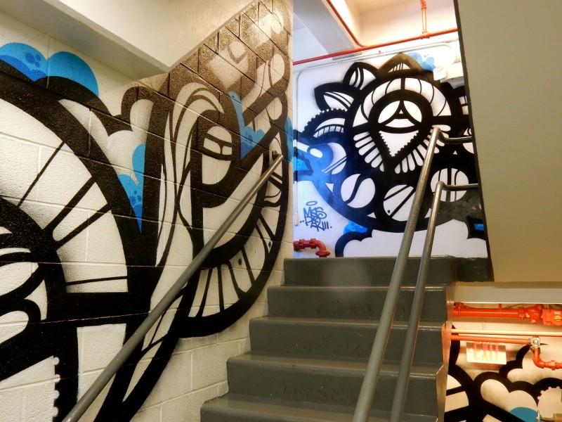 Mas Paz Designed Stairwell Art, Embassy Row Hotel, DC