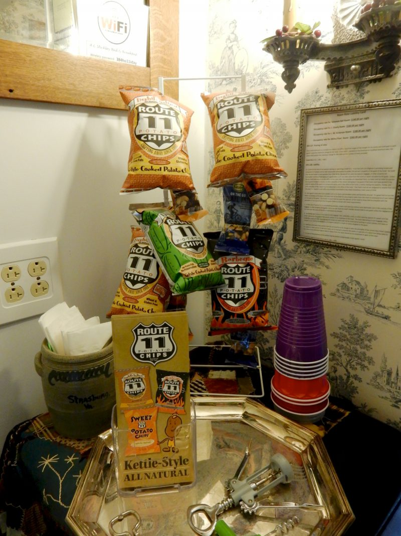 Route 11 Chips at A.C. Stickley House BnB, Strasburg VA