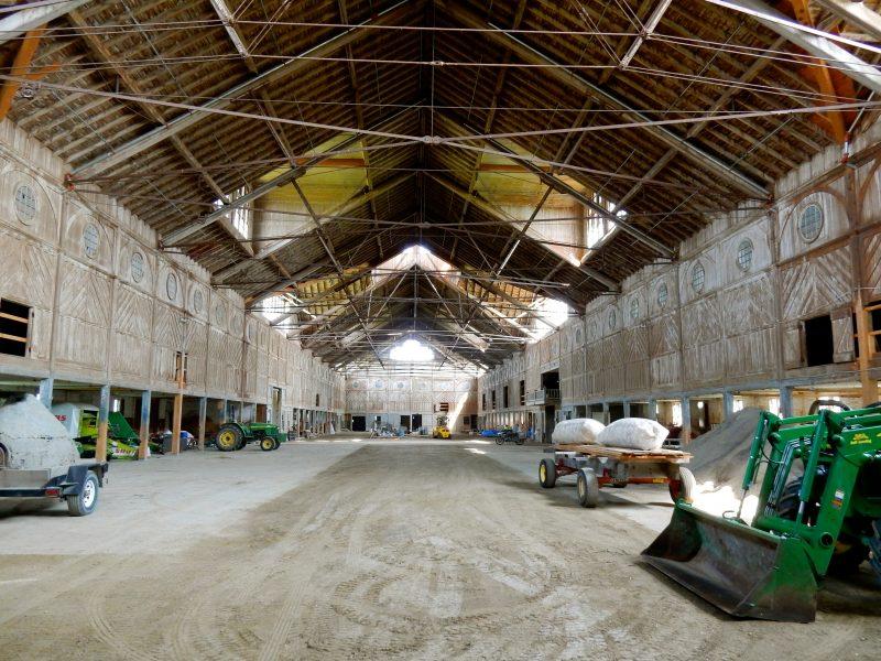Barn under renovation, Shelburne Farms, VT