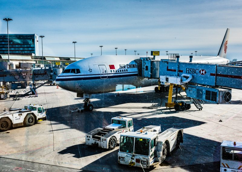 China Air Flight from Montreal to Havana Cuba