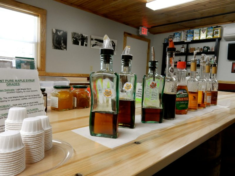 Sample Maple Syrups, New England Maple Museum, Pittsford VT
