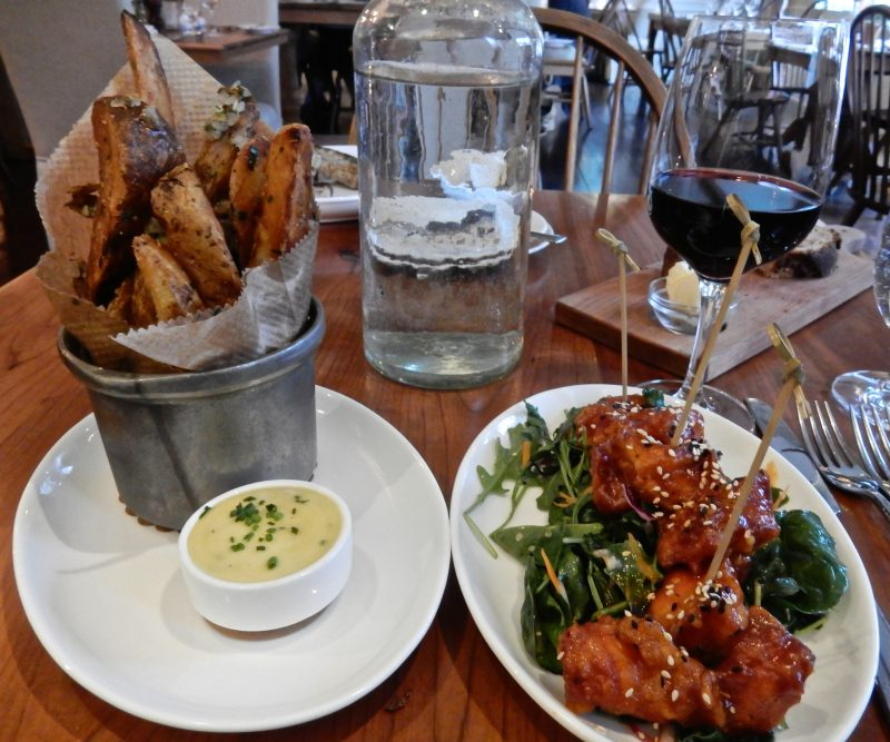 Sweet and Sour Chicken, Truffle Fries, Artisan Restauarnt, Newfane VT