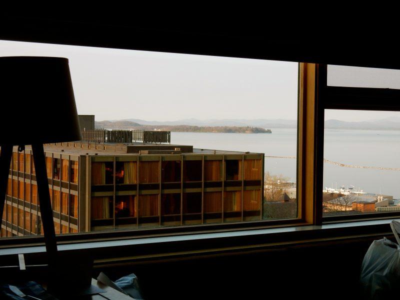 View from Hotel Vermont 6th floor room, Burlington VT