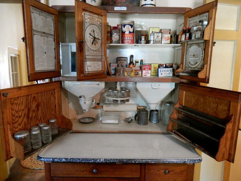1921 Hoosier Cabinet, castle Tucker, Wiscasset ME
