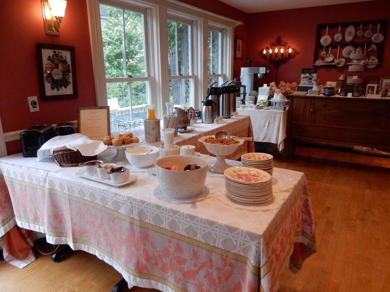 Baked Goods Breakfast, Pentagoet Inn, Castine ME