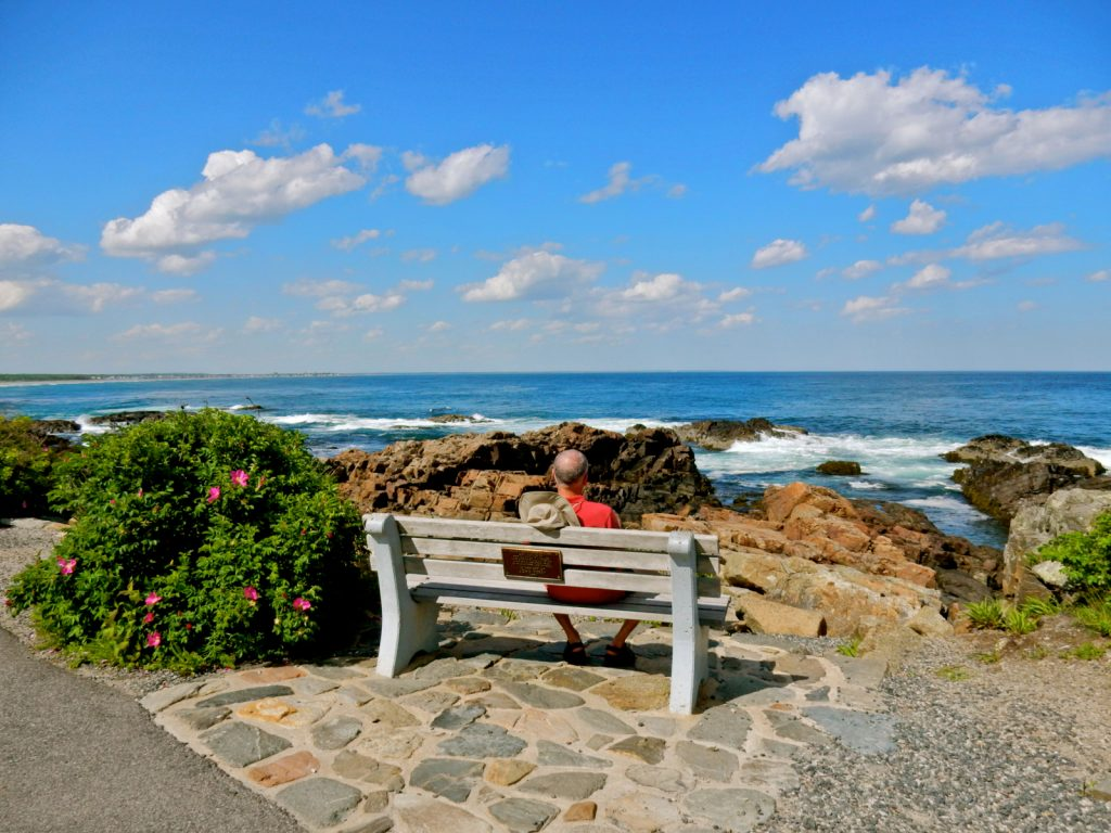 Bench on Marginal Way, Ogunquit ME