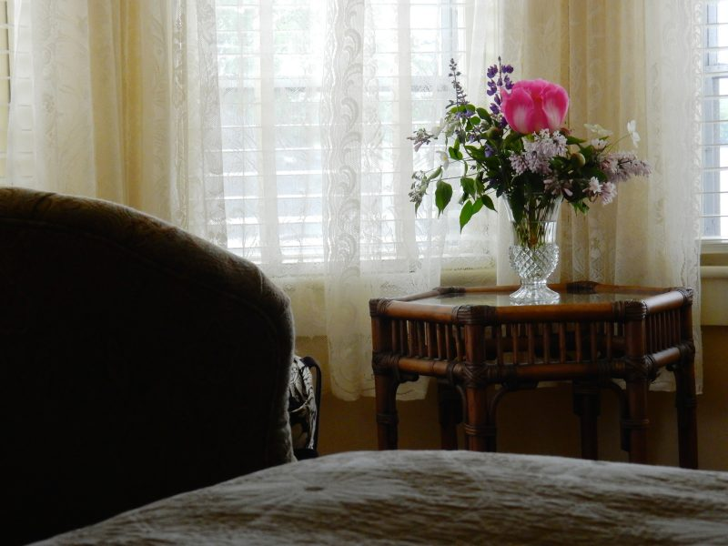 Flowers in room, Pentagoet Inn, Castine ME
