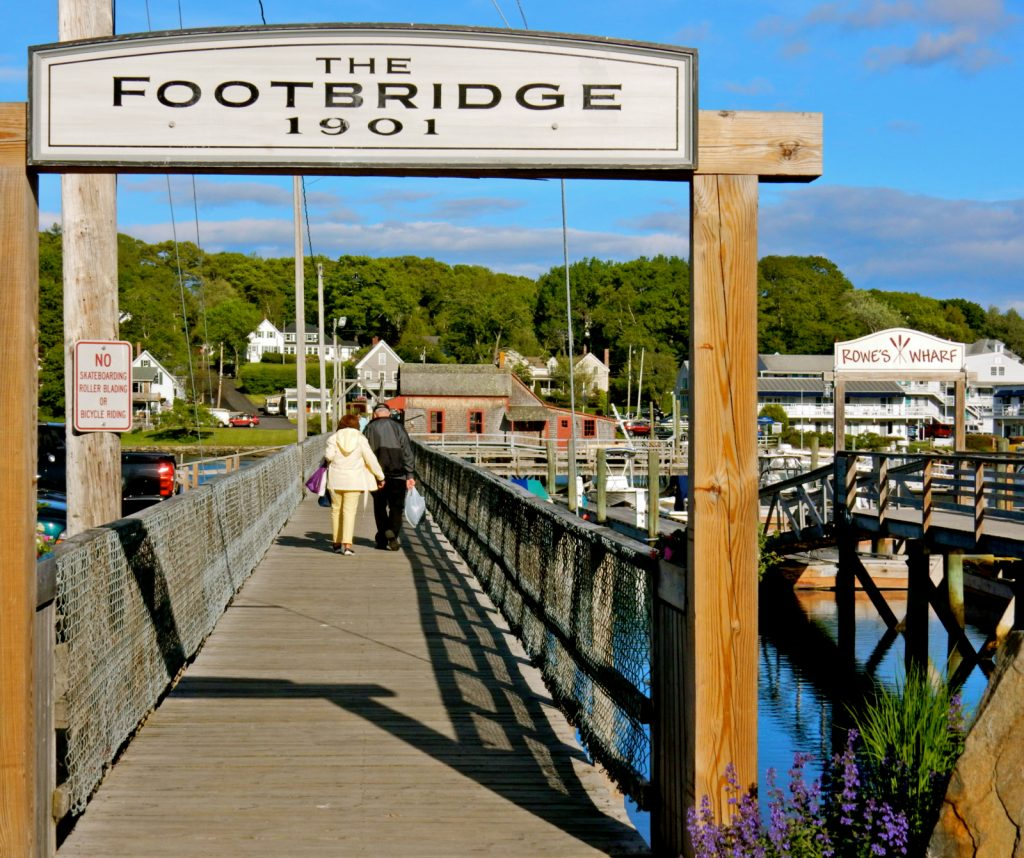Boothbay Harbor Footbridge Maine