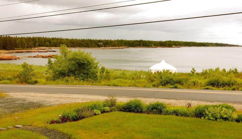 Guestroom window view, Acadia's Oceanside Meadows Inn, Prospect Harbor, ME