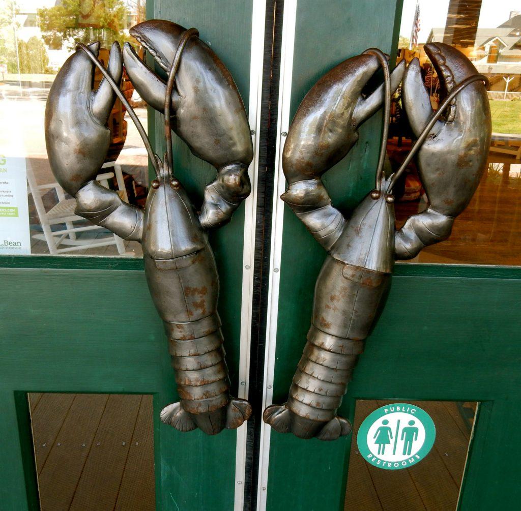 LL Bean Lobster Door pulls Freeport ME