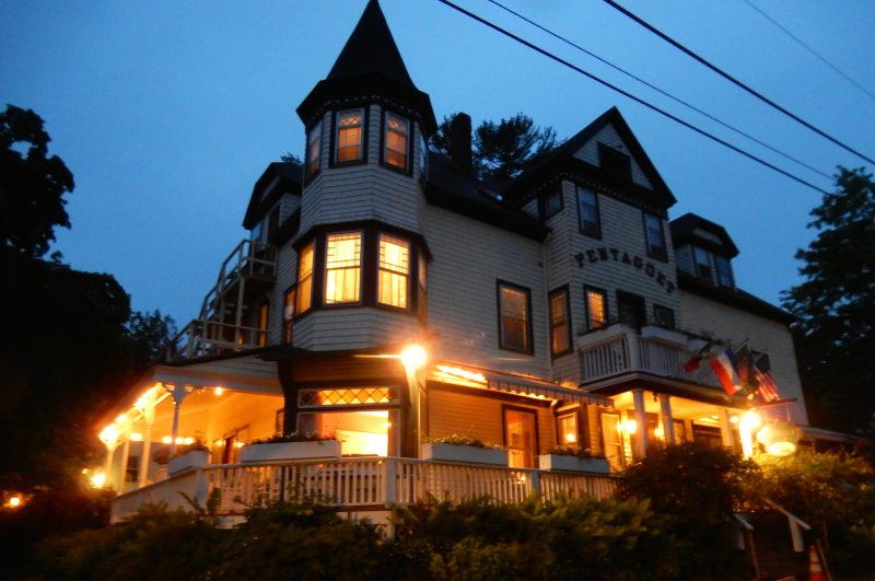 Pentagoet Inn at night, Castine ME