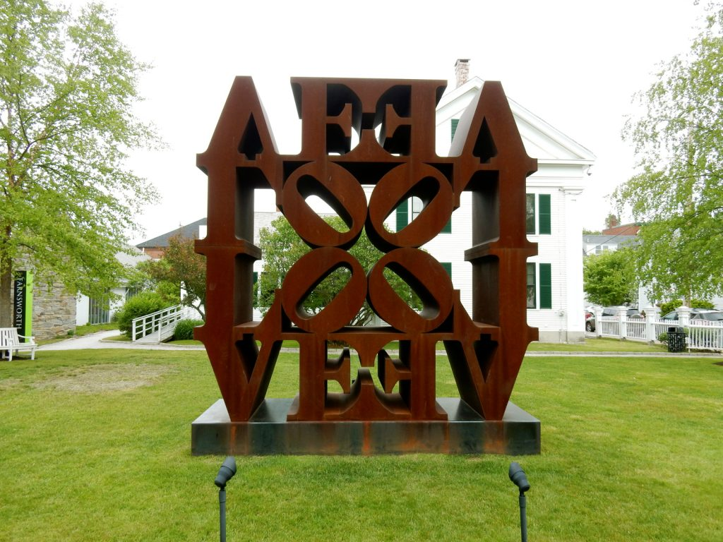 Quadruple LOVE, Robert Indiana, Farnsworth Art Museum, Rockland ME
