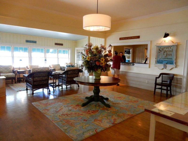 Reception lobby, Spruce Point Inn, Boothbay Harbor ME